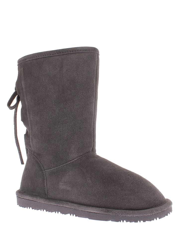 "NICEBAY Leder-Stiefel ""Olympus"" in Anthrazit"