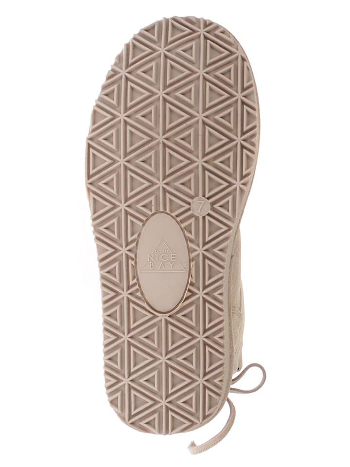 """NICEBAY Leder-Stiefel """"Olympus"""" in Beige"""