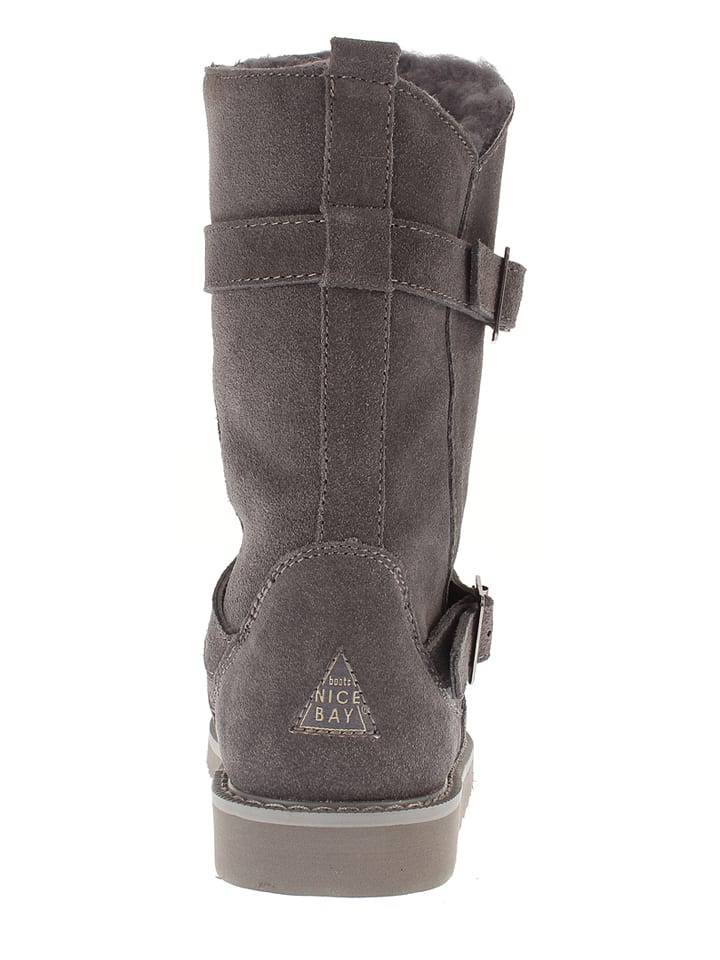 "NICEBAY Leder-Stiefel ""Enza Waterproof"" in Anthrazit"