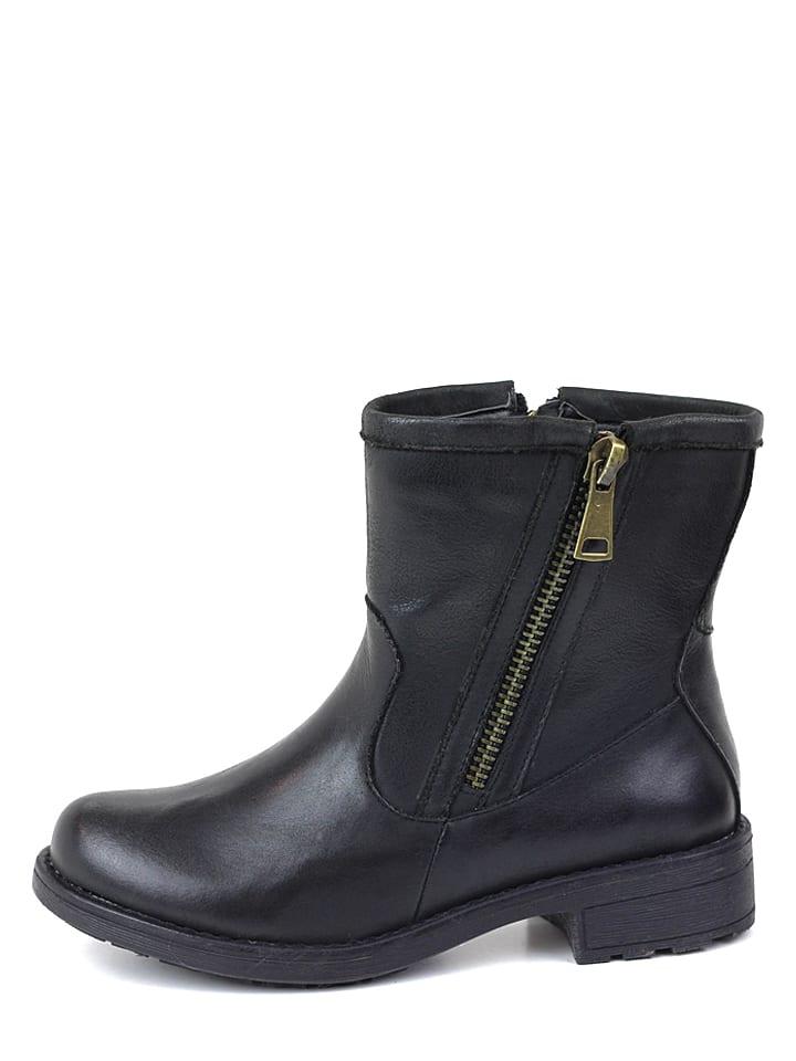 CARMELA Leder-Boots in Schwarz