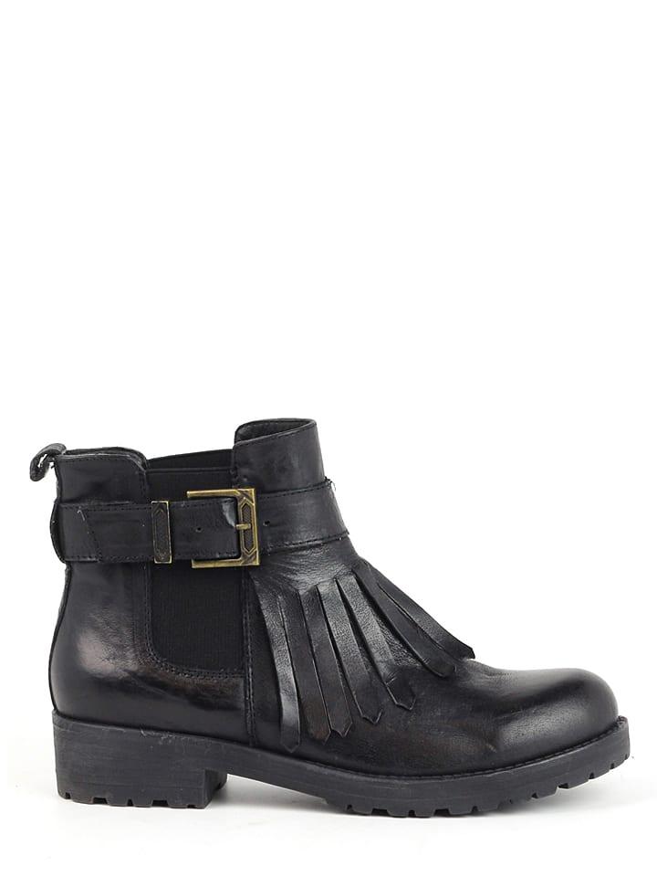 CARMELA Leder-Chelsea-Boots in Schwarz
