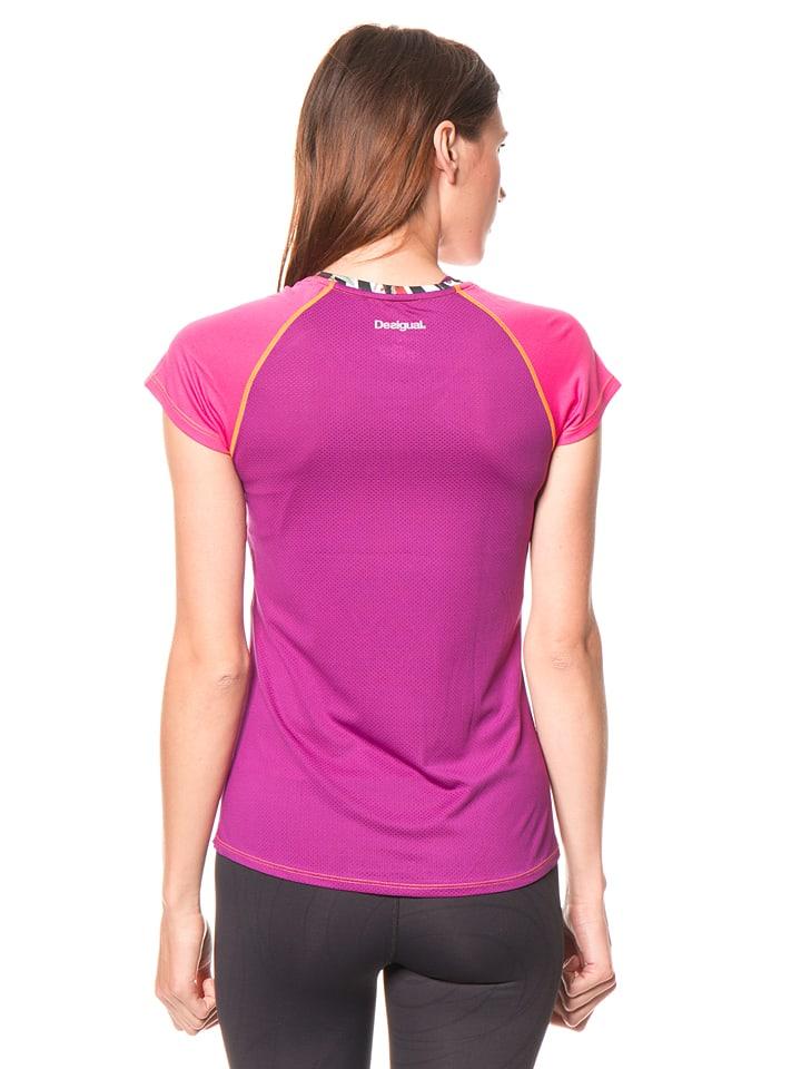 Desigual Sport Funktionsshirt in Pink/ Bunt