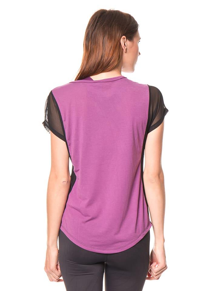 Desigual Sport Funktionsshirt in Pink/ Schwarz