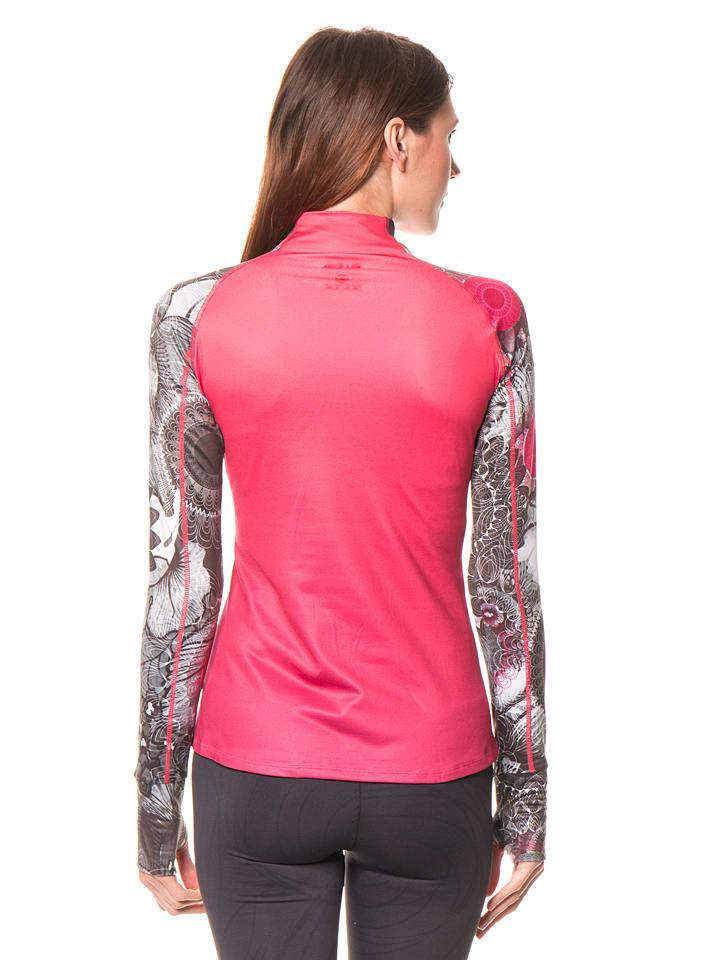 Desigual Sport Funktionsshirt in Pink/ Grau