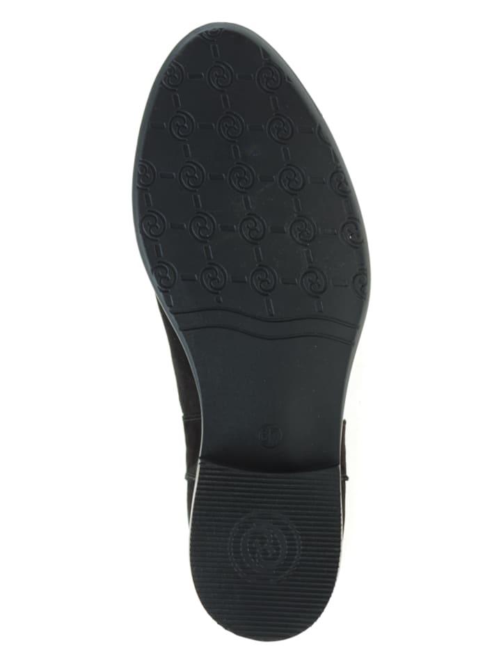 Carinii Leder-Boots in Schwarz