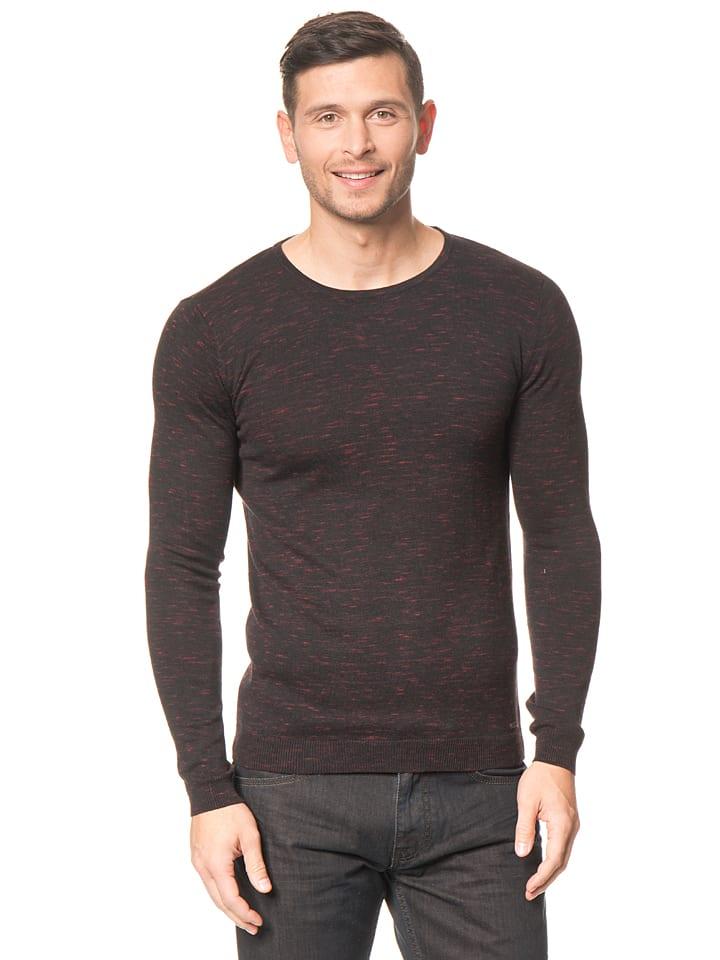 Tom Tailor Pullover in Schwarz/ Rot