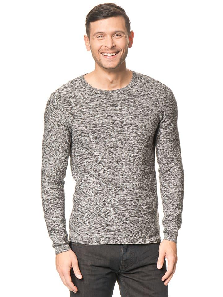 Tom Tailor Pullover in Grau/ Weiß
