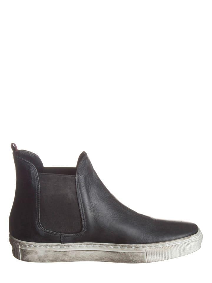 Otto Kern Leder-Chelsea-Boots in Schwarz