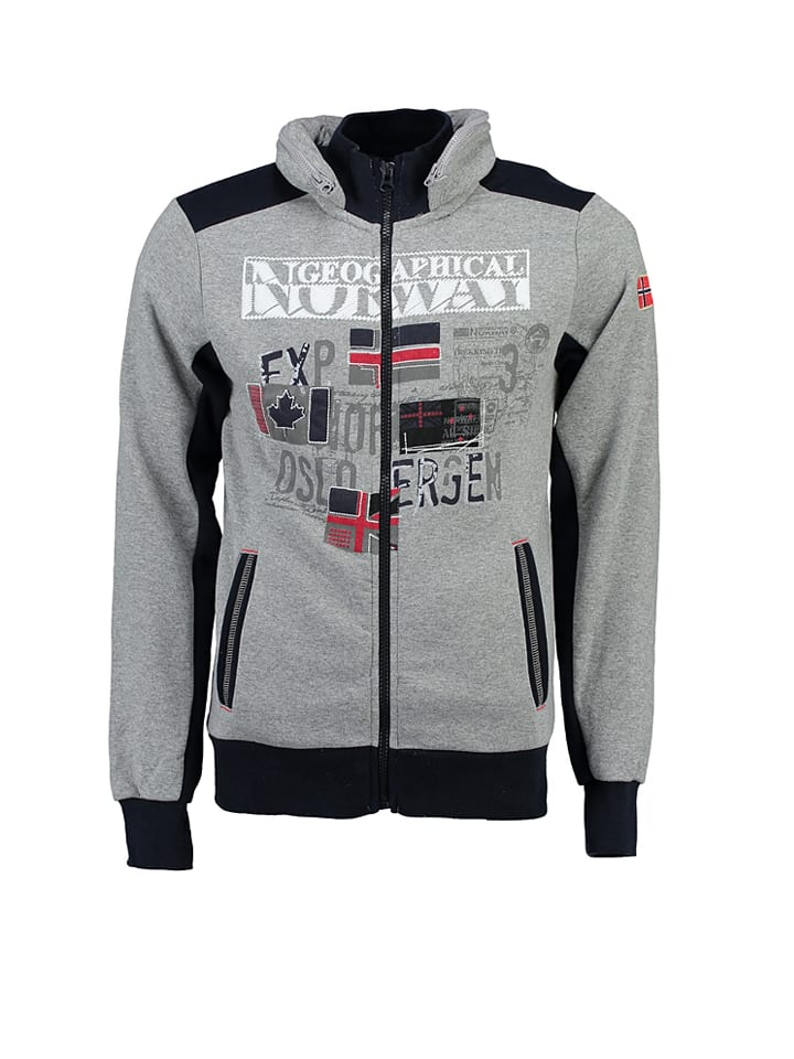 "Geographical Norway Sweatjacke ""Femporio"" in Grau"