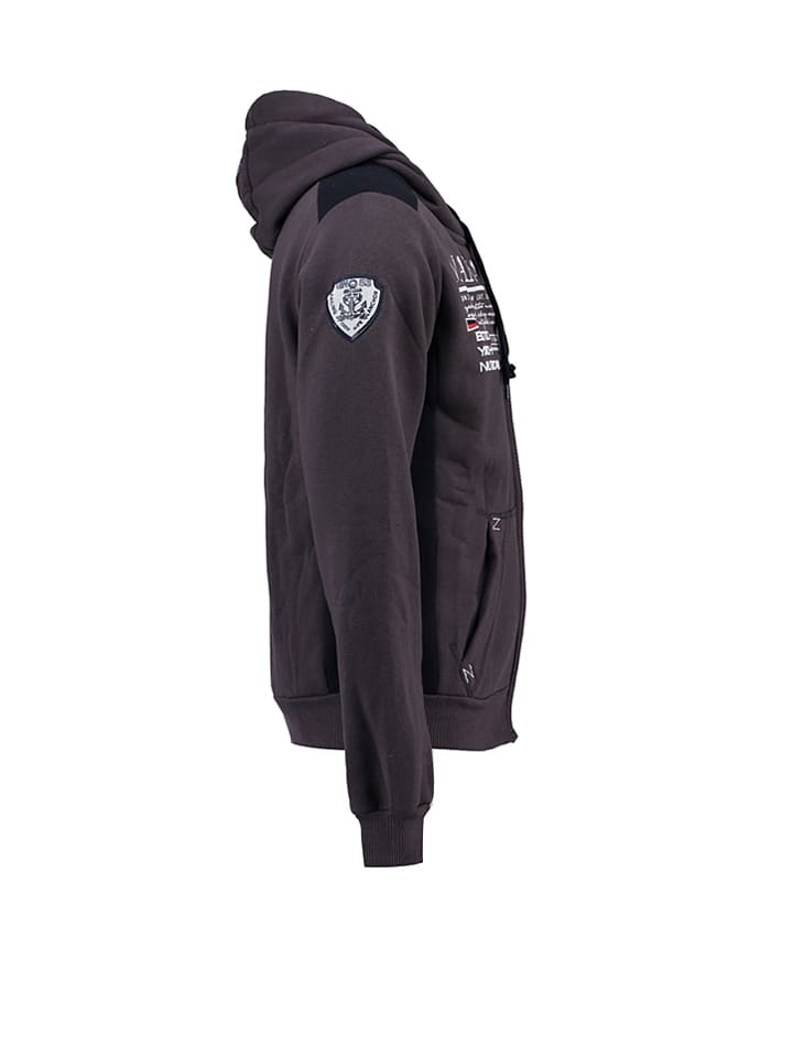 "Geographical Norway Sweatjacke ""Griana"" in Grau"