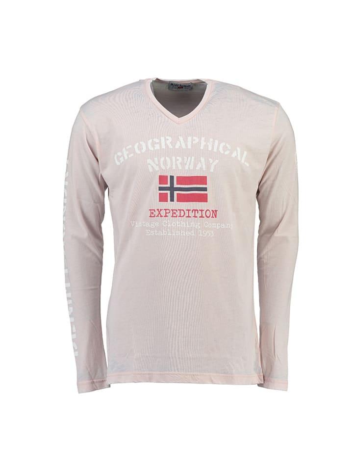 """Geographical Norway Longsleeve """"Jaudace"""" in Hellgrau"""
