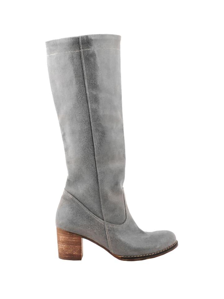 Zapato Leren laarzen grijs