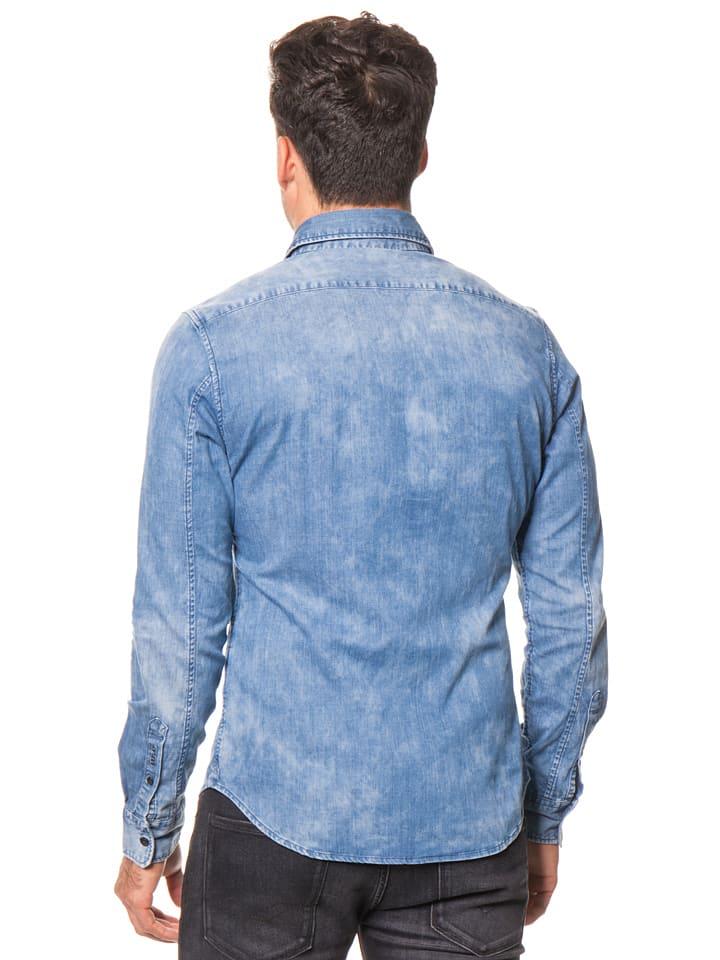 Replay Jeanshemd in Blau