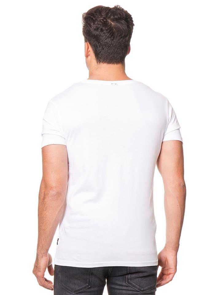 Replay Shirt in Weiß/ Schwarz