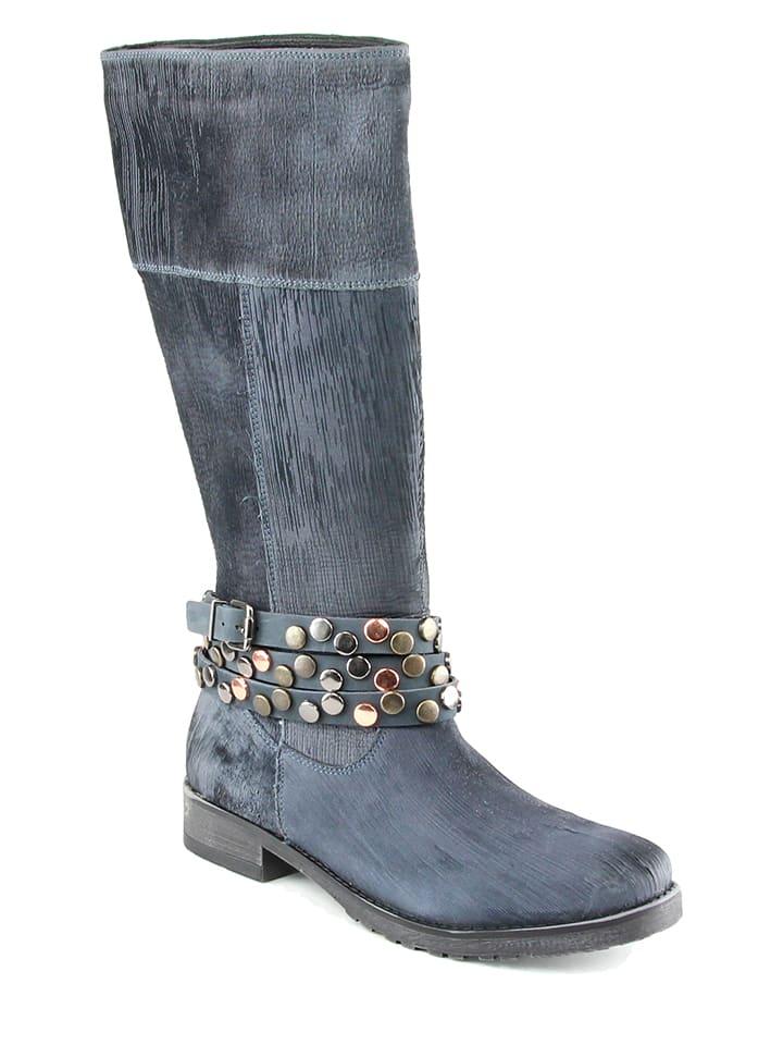 KARAKOOL Leder-Stiefel in Schwarz - 65% yTqTHqh5