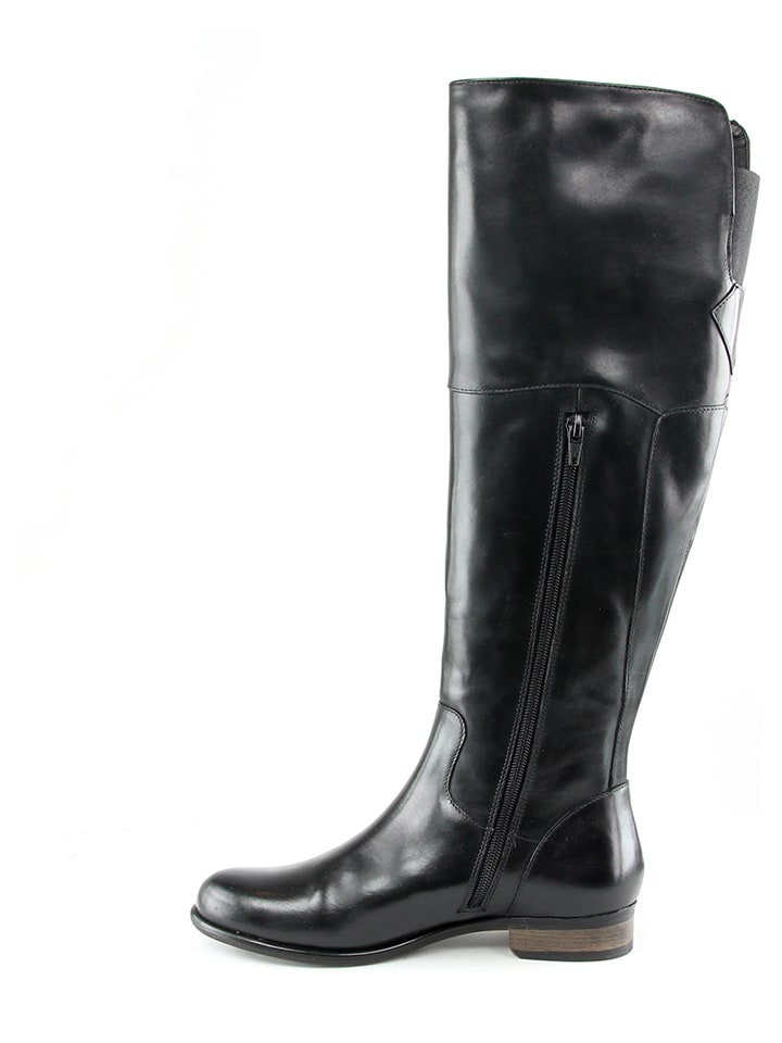 KARAKOOL Leder-Stiefel in Schwarz