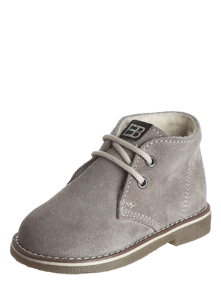 EB Shoes Leder-Schnürschuhe in Grau