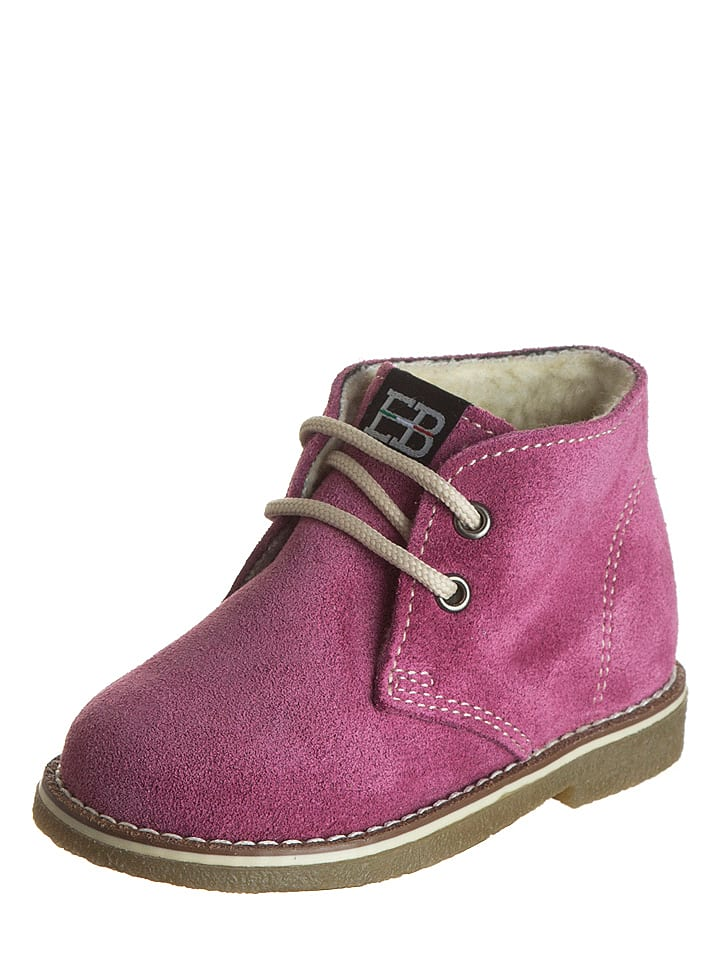EB Shoes Leder-Schnürschuhe in Pink