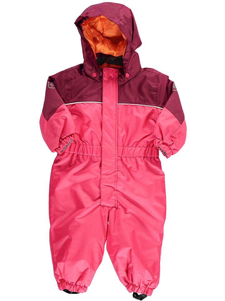 "Color Kids Schneeanzug ""Razor"" in Dunkelrot/ Pink"