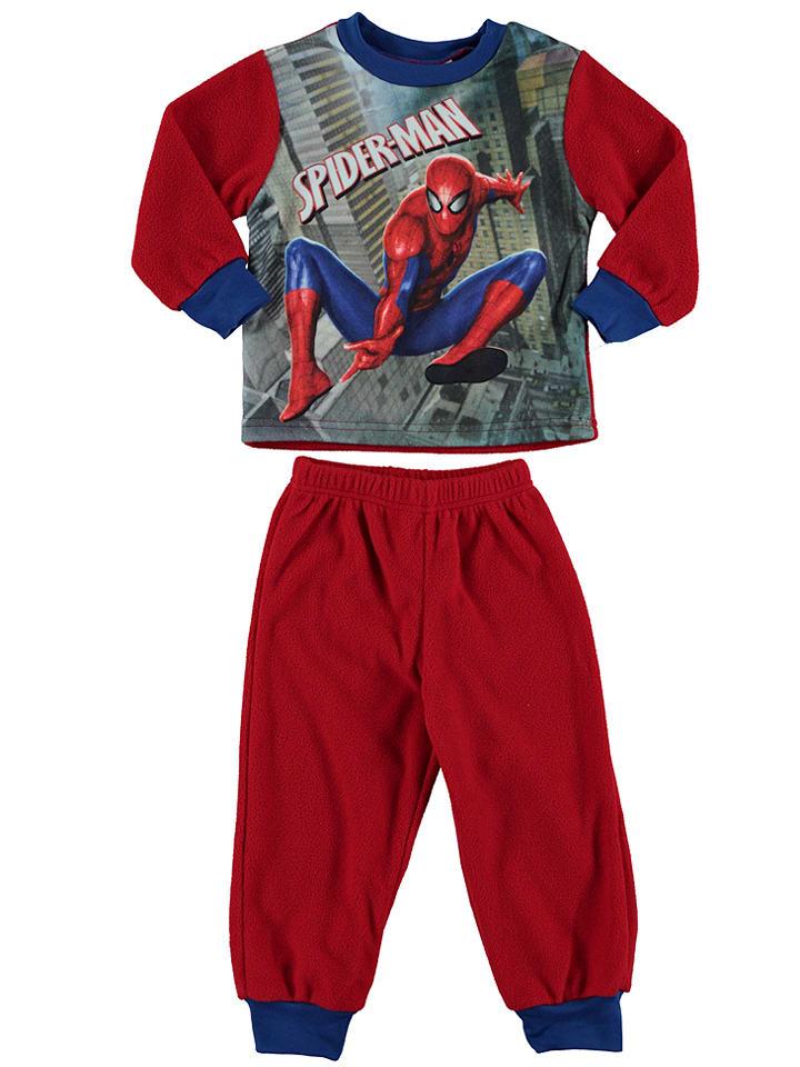 """Spiderman Fleecepyjama """"Spiderman"""" in Rot/ Bunt"""