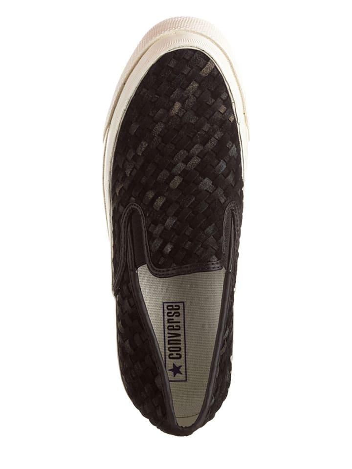 Converse Leder-Slipper in Schwarz