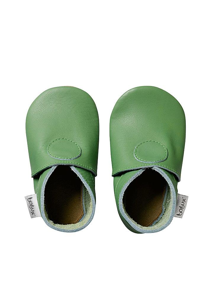 Bobux Leren kruipschoenen groen