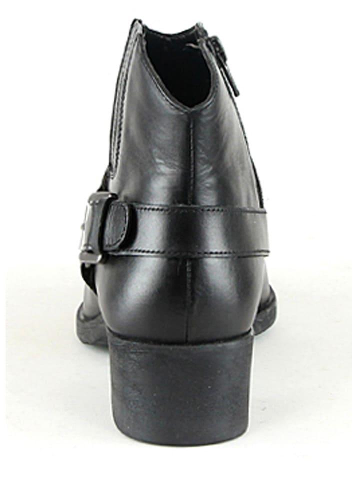 Manoukian Leder-Stiefeletten in Schwarz