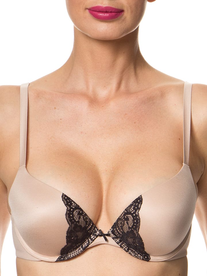 Royal Lounge Push-up-BH in Nude/ Schwarz