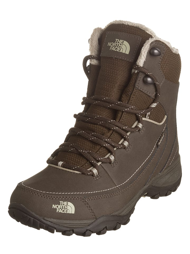 "The North Face Leder-Winterboots ""Snowstrike D"" in Braun"