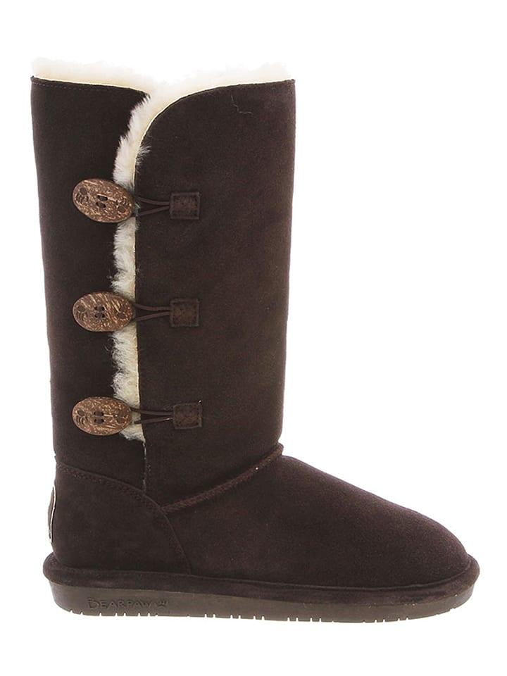Bearpaw Leder-Stiefel Lauren in Dunkelbraun - 50% ThTB7hhzK