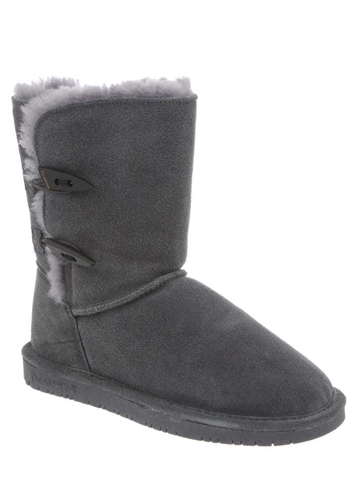 "Bearpaw Leder-Stiefel ""Abigail"" in Anthrazit"