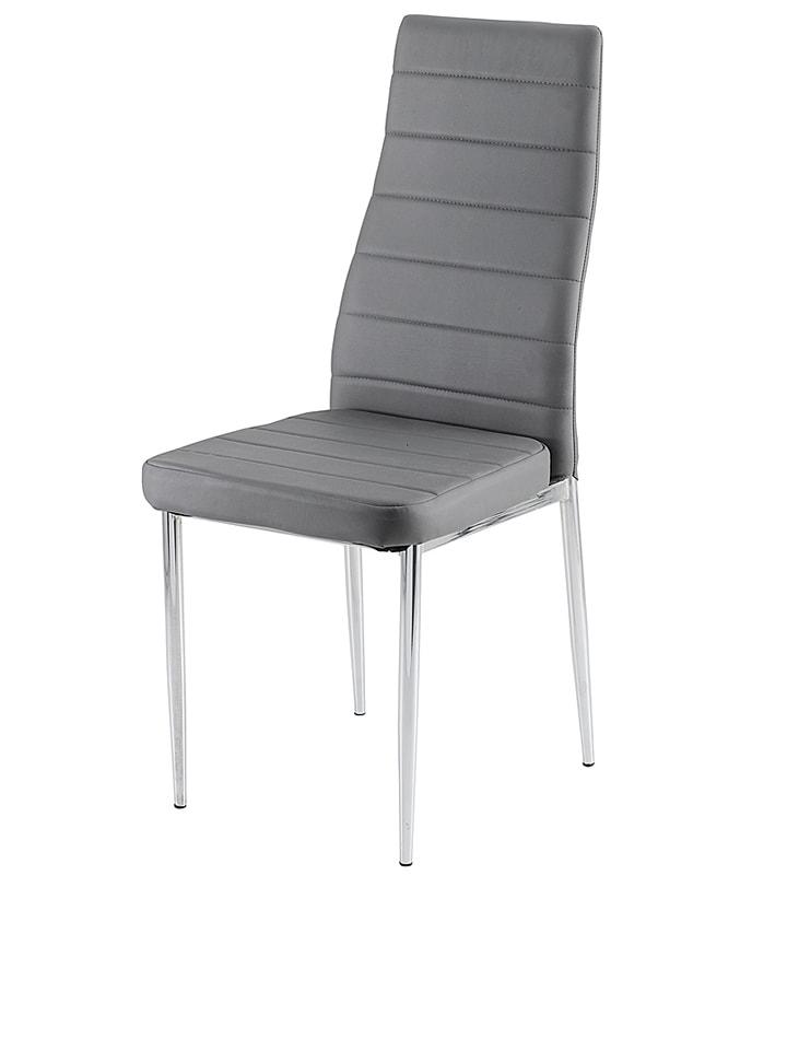 Studio Krzesło w kolorze szarym - 40 x 96 x 53 cm