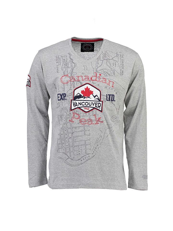 "Canadian Peak Longsleeve ""Jaturo"" in Grau"