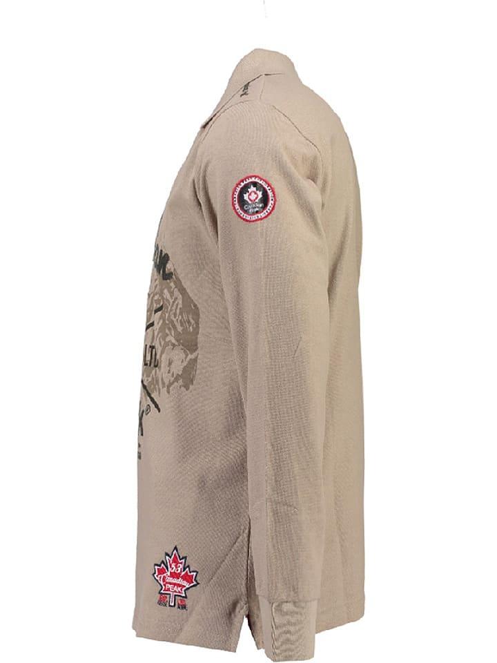 """Canadian Peak Poloshirt in """"Karaka"""" in Beige"""