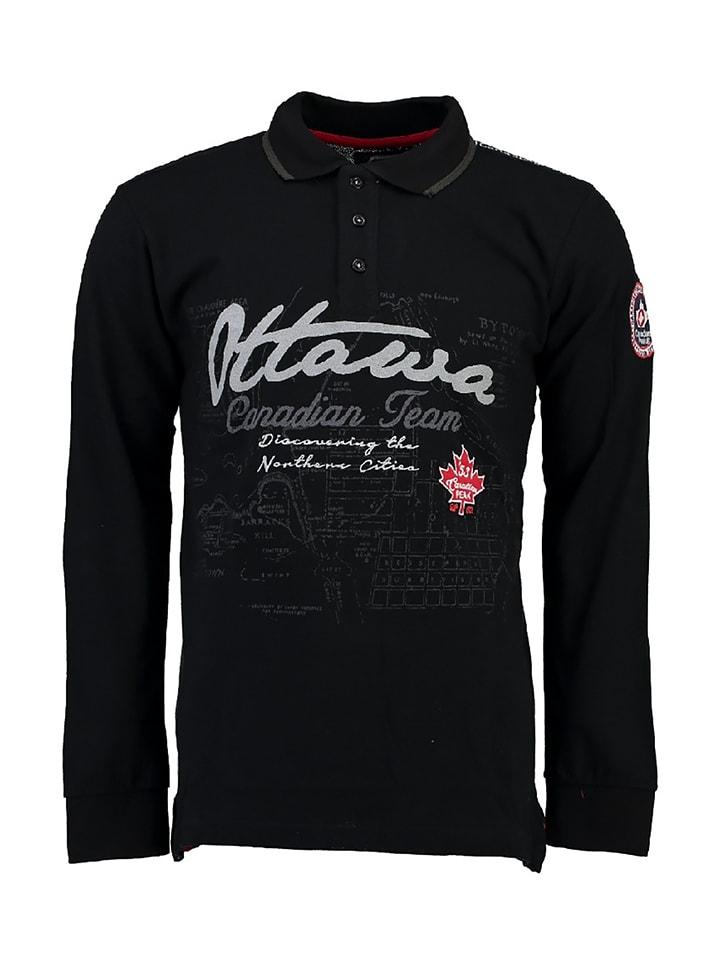 "Canadian Peak Poloshirt ""Karandeo"" in Schwarz"