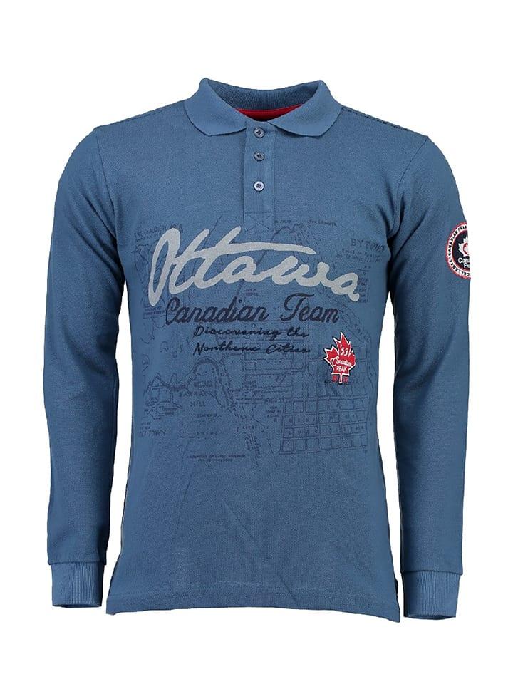 "Canadian Peak Poloshirt ""Karandeo"" in Blau"
