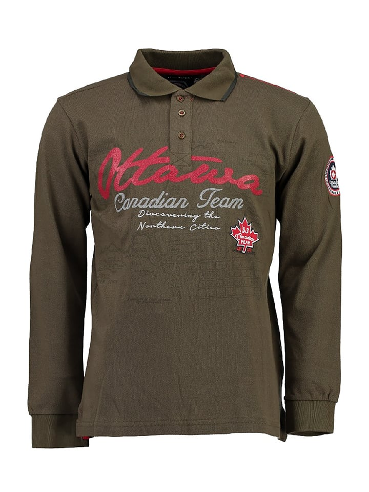 "Canadian Peak Poloshirt ""Karandeo"" in Khaki"