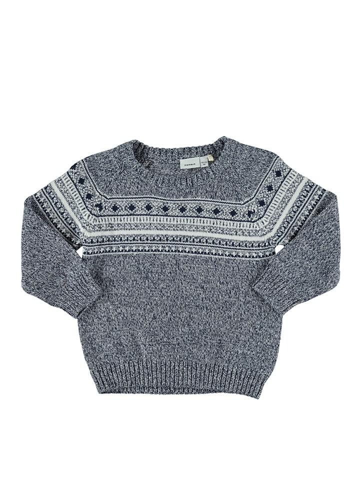 """Name it Sweter """"Waquard"""" w kolorze niebiesko-białym"""