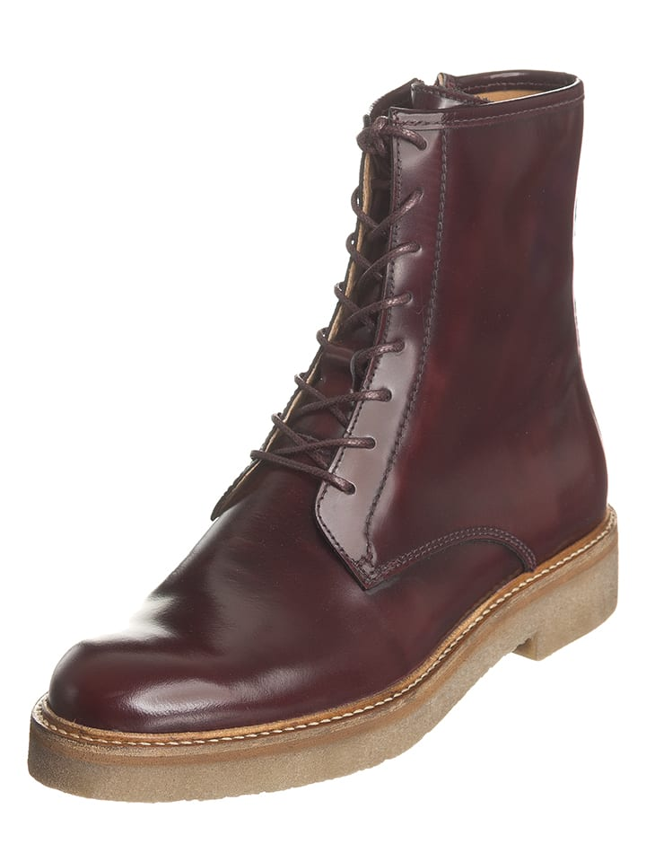 "Kickers Leder-Boots ""Oxford"" in Bordeaux"