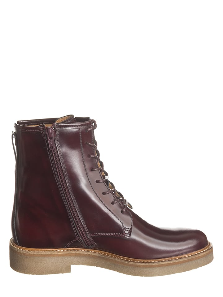 "Kickers Leder-Boots ""Oxford"" in Bordeaux"