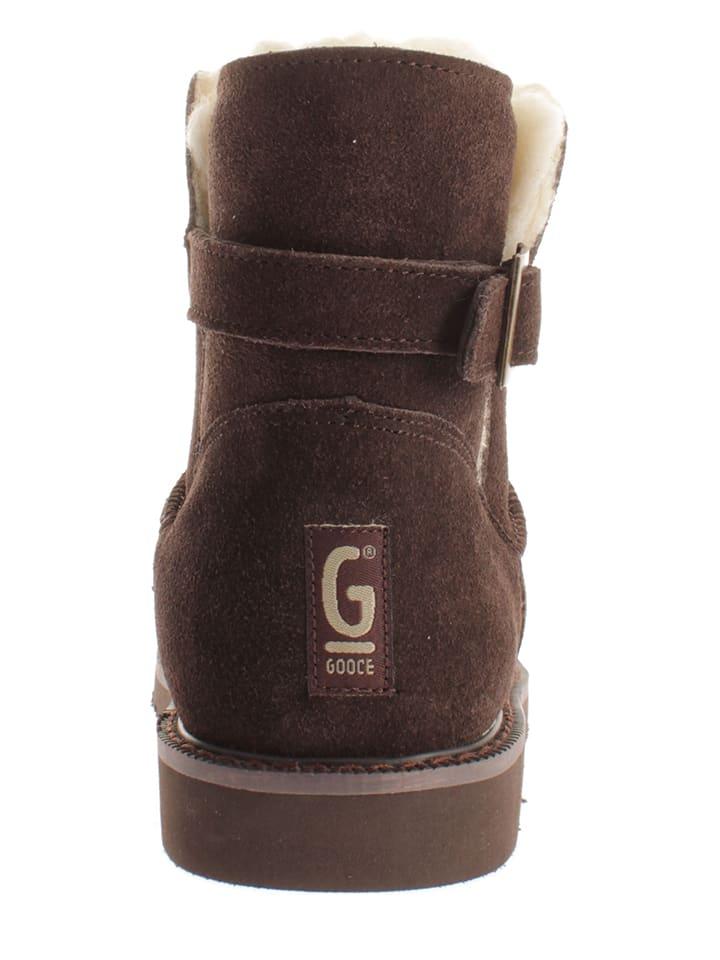 "Gooce Leder-Boots ""Laurie"" in Dunkelbraun"