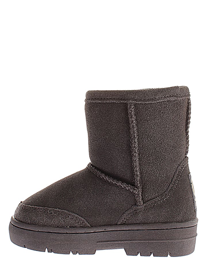 Gooce Leder-Winterboots Guy Toddler in Anthrazit