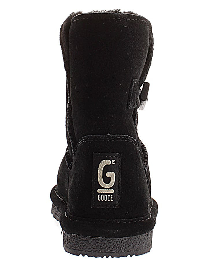 Gooce Leder-Winterstiefel Ena Toddler in Schwarz
