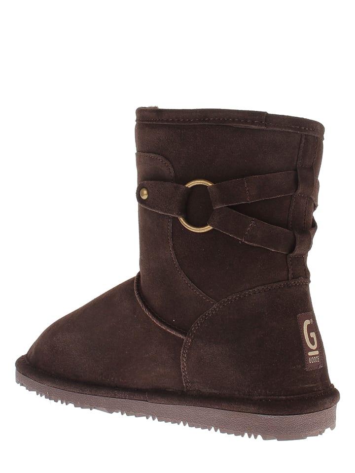 "Gooce Leder-Boots ""Ecrins"" in Dunkelbraun"