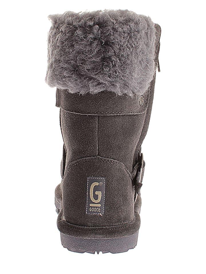 "Gooce Leder-Boots ""Paradis"" in Anthrazit"