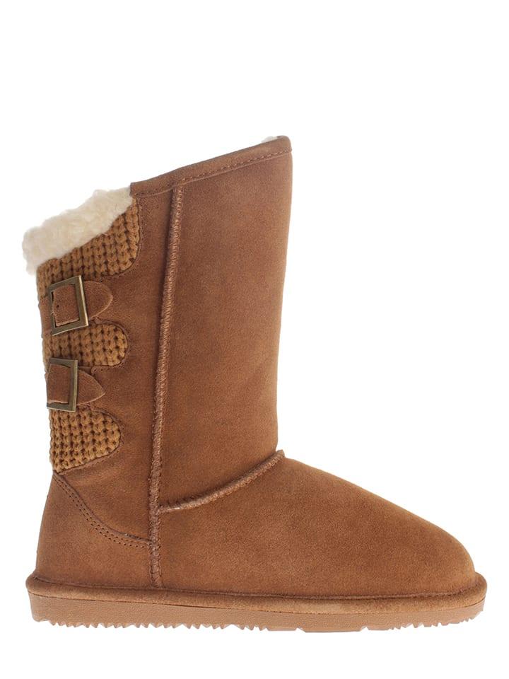 """Gooce Leder-Boots """"Meije"""" in Hellbraun"""