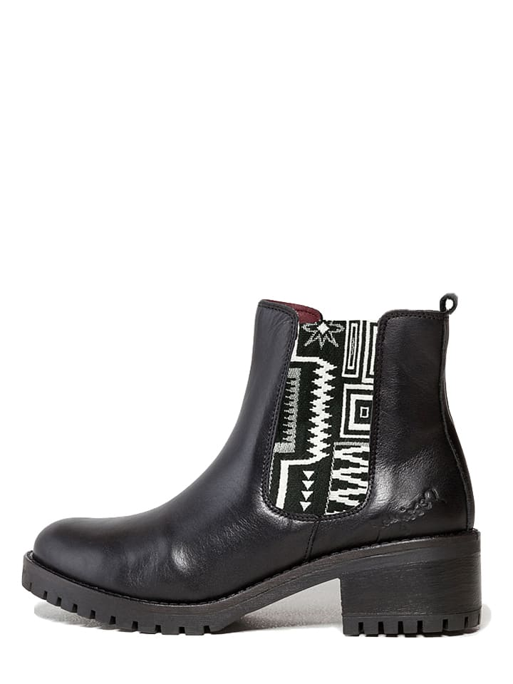 "Desigual Chelsea-Boots ""Charly Navajo"" in Schwarz/ Weiß"