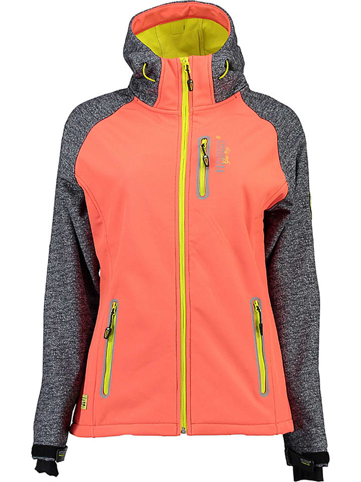 "Geographical Norway Softshelljacke ""Tamilia"" in Orange/ Anthrazit"