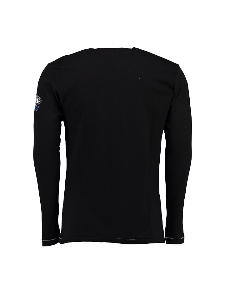 "Geographical Norway Longsleeve ""Jeepsy"" in Schwarz"