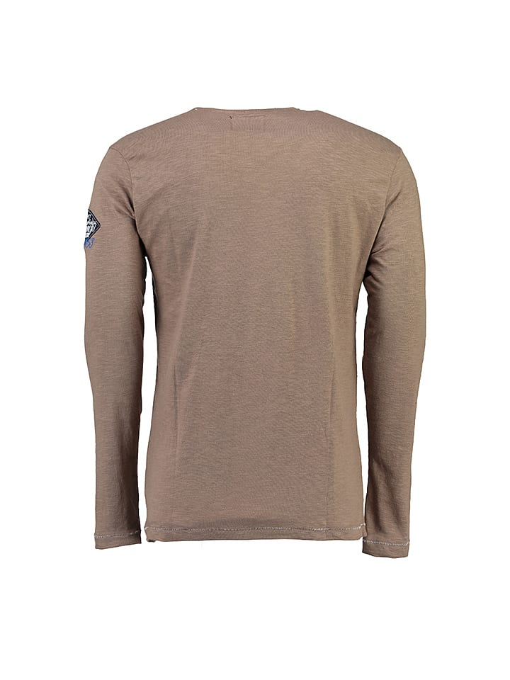 "Geographical Norway Longsleeve ""Jeepsy"" in Taupe"
